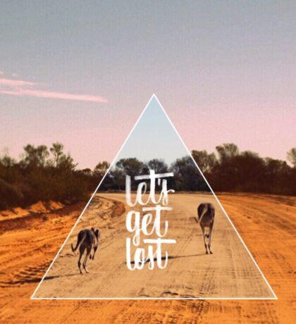 let's get lost australia Sticker