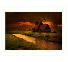 Sundown At St Thomas Art Print