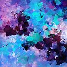 Purple Abstract Art by A. TW