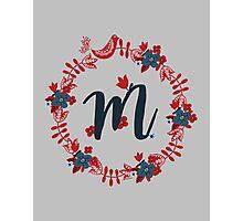 Scandinavian Monogram M Photographic Print