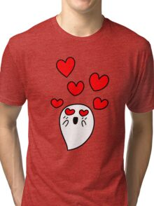 Little Ghost in Love Tri-blend T-Shirt