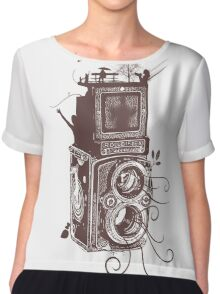 Retro Rolleiflex - Evolution of Photography - Vintage #2 Chiffon Top