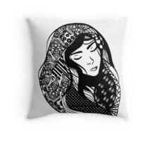 Artistic Asian Beauty Throw Pillow