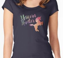 Unicorn Hunter- Watercolor Women's Fitted Scoop T-Shirt