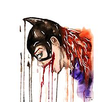 batgirl transparent background Photographic Print