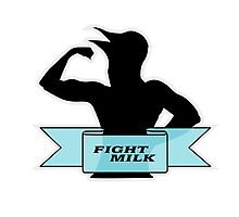 Fight Milk Photographic Print