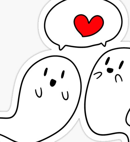 Ghost Couple Sticker
