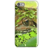 Frog in the Pond iPhone Case/Skin