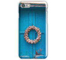 Blue Door and Wreath iPhone Case/Skin