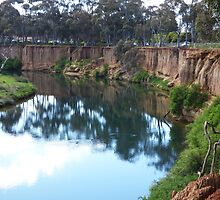 Werribee River and Cliffs by kalaryder