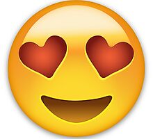 Emoji Smiling Face With Heart Shaped Eyes by emojiprints