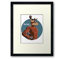The Rocketdeer Bust Framed Print