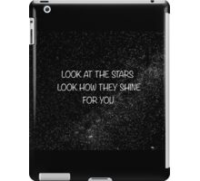 Coldplay-Yellow Lyrics iPad Case/Skin