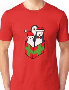 Christmas Gift Penguins Unisex T-Shirt