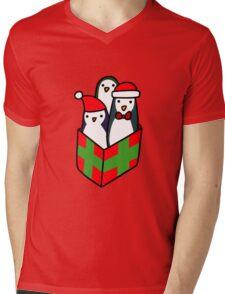 Christmas Gift Penguins Mens V-Neck T-Shirt