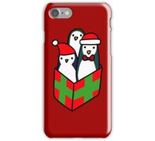 Christmas Gift Penguins iPhone Case/Skin