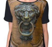 Bern Switzerland Vintage Brass Lion Door Knocker  Chiffon Top