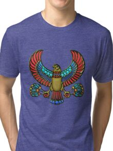 Sacred Egyptian Falcon Tri-blend T-Shirt