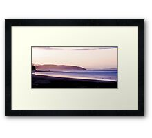 A Sawtell Sunset Framed Print
