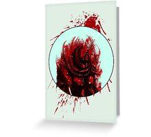Blood Mist Warrior Greeting Card