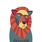 Hipster Lion by volkandalyan