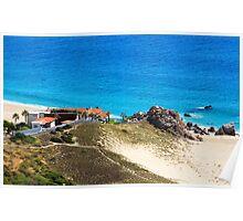 Cabo San Lucas Baja Mexico Beach House Poster