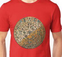 Ancient Mayan (Aztec) Calendar (Jade & Gold)  Unisex T-Shirt