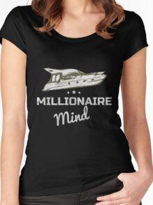 Millionaire Mind T-Shirt Women's Fitted Scoop T-Shirt