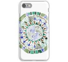 Watercolor ethnic feathers abstract mandala iPhone Case/Skin