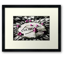 Imagine By The Strawberry Fields Framed Print
