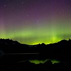 Aurora Borealis over Aialik Bay, Kenai Fjords Alaska by Allyeska