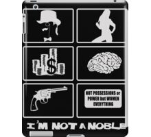 not a noble - grid black iPad Case/Skin