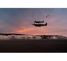 Coastal Spitfires Photographic Print