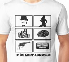not a noble - grid white Unisex T-Shirt