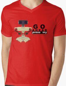 Robot R.O.B. Vector Mens V-Neck T-Shirt