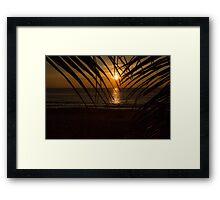 Sunset on the sea Framed Print