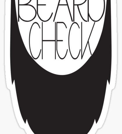 Beard Check Sticker