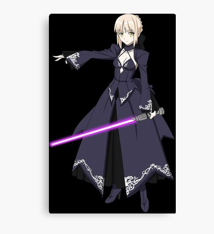 Saber Alter Using A Lightsaber Parody Canvas Print