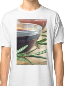 Soy sauce in a glass and a sprig of rosemary Classic T-Shirt