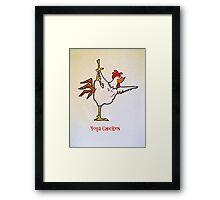 Yoga Chicken Framed Print