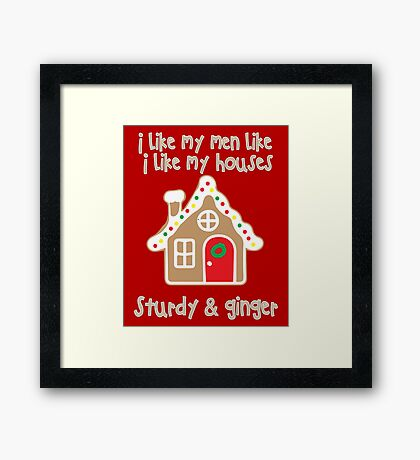For ladies with gingervitis (Christmas) Framed Print