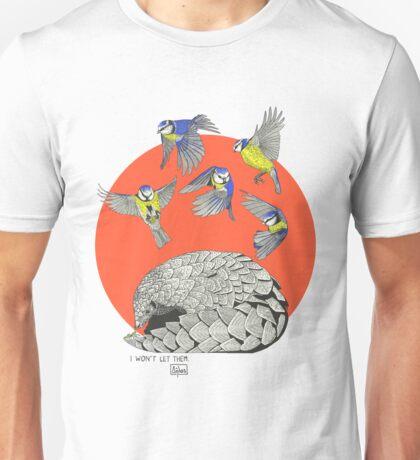 Pangolin and Birds Unisex T-Shirt