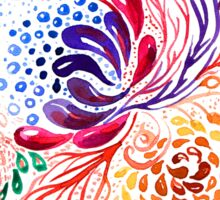 Watercolor ethnic feathers abstract mandala Sticker