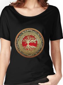Treasure Trove: Celtic Tree of Life [Gold] Women's Relaxed Fit T-Shirt