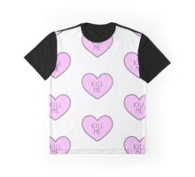 Kill me - Patterned Graphic T-Shirt