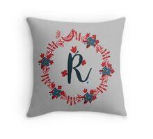 Scandinavian Monogram R Throw Pillow