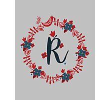 Scandinavian Monogram R Photographic Print