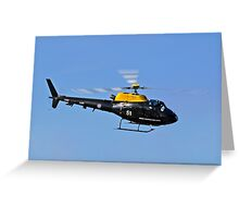 Red Arrows - Red Ten's Squirrel Helicopter Greeting Card