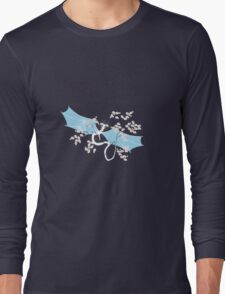 Cherry Tree Dragon - White and Blue Long Sleeve T-Shirt