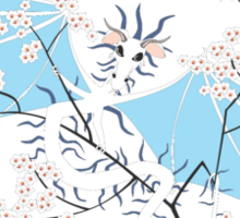 Cherry Tree Dragon - White and Blue Sticker